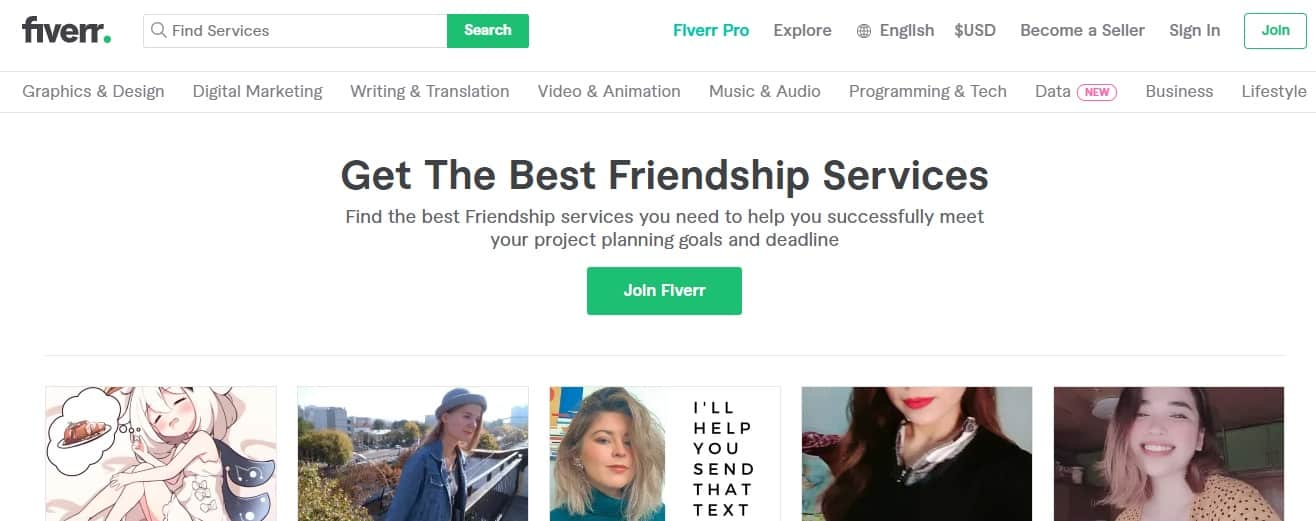 Get-paid-to-be-an-online-friend-through-Fiver-Friendships